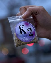 A packet of K2, a synthetic marijuana-like product that was sold in Lawrence in 2009.