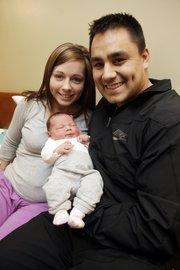 Lawrence Memorial Hospital also celebrated the last baby of 2010, a girl, born to Brittany and Jacob Sacks, of Lawrence. The couple named their daughter Stella.
