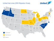 Kansas is one of nine states noted in United Van Lines' 2010 migration study for the high rate of people leaving the state. The others are Missouri, North Dakota, Illinois, Michigan, Ohio, Pennsylvania, New Jersey and New Hampshire.