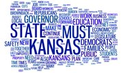 This word cloud was created using text from the Democratic response to Kansas Gov. Sam Brownback's 2011 State of the State address. The larger the font, the more often the word was used in the response.