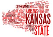 This word cloud was created using text from Kansas Gov. Sam Brownback's 2011 State of the State address. The larger the font, the more often the word was used.
