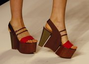 Platform shoes in the Fendi Spring-Summer 2011 fashion collection.