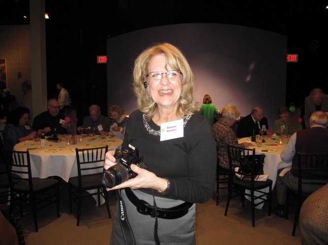 Belinda Rehmer, of Lawrence Memorial Hospital's communications department, get her camera ready to capture the 42nd annual LMH Endowment Association meeting.