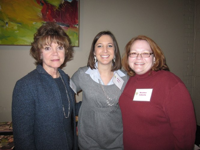 From left, Connie Sollars, Melissa Hess and Heather Ackerly pose for a picture Thursday, Jan. 27, during the annual meeting of the Lawrence Memorial Hospital Endowment Association at Maceli's. Sollars received an Elizabeth Watkins Community Caring Award last year for her outstanding support of LMH. Hess and Ackerly are employees of the endowment association. Hess is the development specialist and Ackerly is the foundation and corporate relations manager.