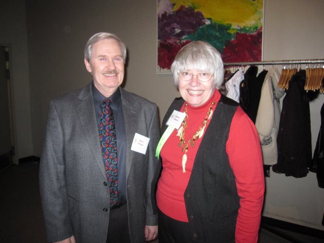 Steve and Dianna Nelson, Lawrence, attend the Lawrence Memorial Hospital Endowment Association's annual meeting Thursday, Jan. 27, 2011, at Maceli's. Dianna was a nominee for this year's Elizabeth Watkins Community Caring Award. She volunteers 400 hours a year, trains new volunteers and is a champion for the Stepping Out Against Breast Cancer dance.