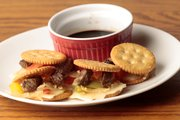 Surprise your Super Bowl party guests with these Ritz Cheese Steak Sliders.