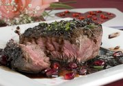 Filet Mignon with Pomegranate-Burgundy Sauce