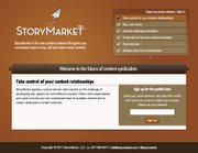StoryMarket home page.