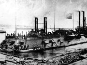 The U.S. Civil War gunboat Cairo is shown in this undated photo. The Union gunboat was sunk on Dec. 12, 1862 while clearing Confederate batteries and obstructions on the Yazoo River, north of Vicksburg, Miss. The Cairo was sunk by explosive charges from detonated electrical mines. (AP Photo)