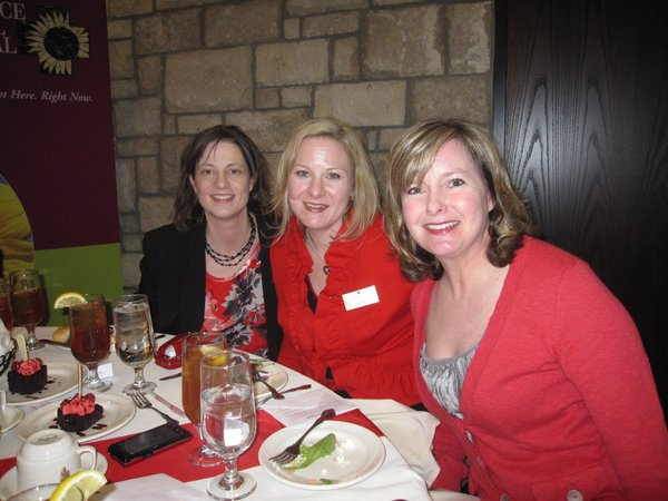 From left are Angie Galindo, executive director of the American Heart Association, Coeli Baker, Go Red For Women director, and Amy Gilliland, a member of the Lawrence Go Red For Women committee. They attended the Go Red For Women luncheon Feb. 11, 2011, at The Oread Hotel in Lawrence. About 200 people attended the event, which raised about $30,000 for the American Heart Association.