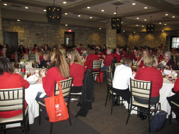 About 200 people attended the seventh annual Go Red For Women Luncheon on Friday, Feb. 11, at The Oread Hotel. The event raised about $30,000 for the American Heart Association.