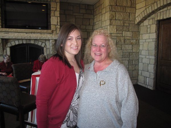Gwen Pennewell, left, and her aunt Louise Pennewell, both of Lawrence, attended the Go Red For Women luncheon.