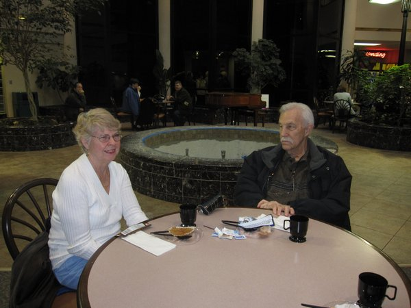 Charlotte Sparkes and Bill Venner, both of Lawrence, attend the annual Healthy Hearts Fair on Saturday, Feb. 12, 2011, at Lawrence Memorial Hospital.