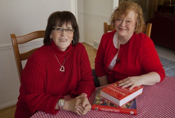Cathy Porter, left, and Kristen Seltman, are members of the WomenHeart support group in Overland Park. The group offers education and support for women who have heart disease.