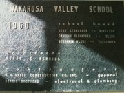 Plaque marking the dedication of Wakarusa Valley School, 1104 E. 1000 Road.