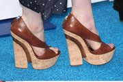"Shoe detail for Anne Hathaway's arrival to a screening of ""Rio"" at 20th Century Fox Studios in Century City, Calif."
