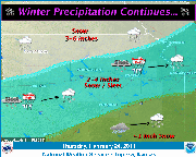The National Weather Service predicts Douglas County could receive 2-4 inches of snow and sleet Thursday, Feb. 24, 2011.