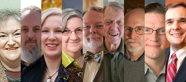 The 2011 candidates for the Lawrence School Board. From left: Marlene Merrill, Tyler Palmer, Shannon Kimball, Ola Faucher, James Clark, Bill Roth, Rick Ingram, Keith Moore and Randy Masten.