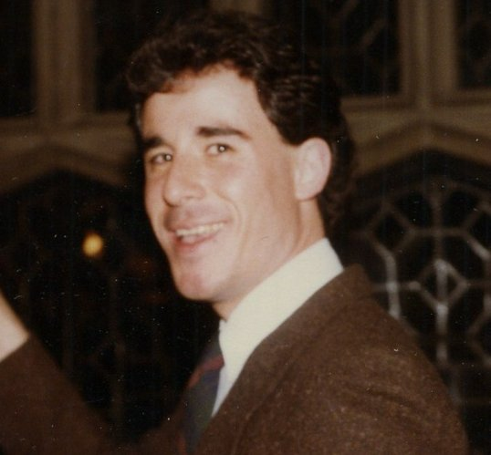 Jay Monahan gives a toast at his parent's 30th wedding anniversary in 1983.