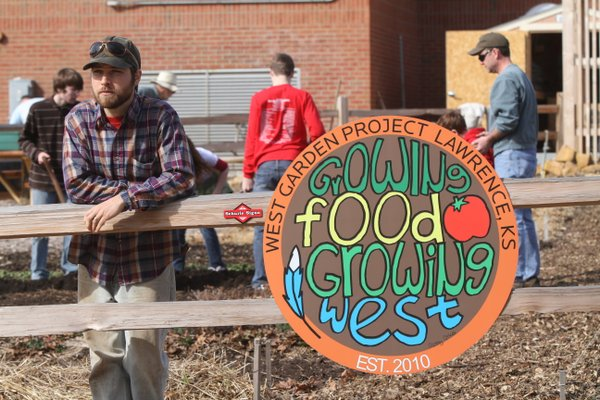 After moving to Lawrence in 2009, Dan Phelps took on the job of coordinator of the West Junior High garden. Last year, the garden supplied the school's cafeteria with more than 180 pounds of produce. This year, he is coordinating a bigger WJHS garden and a new one at Sunset Hill School.