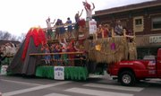 The Sandbar float at the Lawrence St. Patrick's Day Parade Thursday, March 17, 2011.
