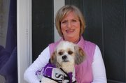 Shawnee resident Barbara McPherson, a retired school principal, started Boomeroos, which sells custom-made collegiate fleece jackets for dogs. The name of her business was inspired, in part, by her shih tzu, Boomer, whom she adopted after he was rescued from a puppy mill.