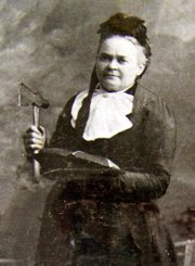 Carrie A. Nation was a hatchet-wielding crusader in the early 1900s and part of the Women's Christian Temperance Union campaign to prohibit alcohol.