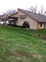 A car crashed into Lawrence Family Vision Clinic, 3111 W. Sixth St., Tuesday, March 29, 2011. Medics responded to two people at the scene of the accident.