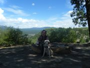 Chikako Mochizuki and her seeing eye dog, Comet, on a trip to New Mexico in 2009. Last week Comet had a tumor removed by clinicians at the Kansas State Veterinary Clinic on April 13. With help from community donors, Mochizuki was able to raise the $6,000 needed for the surgery.