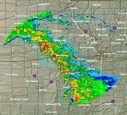 Area radar map, as of 6: 31 p.m.
