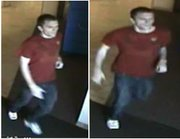 Kansas University police released these photos of a person of interest connected with three reports of a man who reportedly peeked into the showers of female KU students in McCollum and Hashinger residence halls. Anyone with information in the case or who recognizes the person in the photo is encouraged to call KU Crime Stoppers at 864-8888.