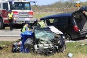 A two-vehicle accident on Kansas Highway 10 east of Eudora about 3:30 p.m. Saturday, April 16, 2011, claimed the lives of two people. Three others were seriously injured.