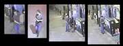 These are screen shots of security video that show the suspect believed to be involved in several recent cases of graffiti.