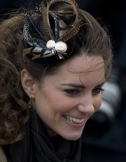 Kate Middleton, fiancee to Britain's Prince William, is seen as they visit Trearddur Bay Lifeboat Station on the island of Anglesey, Wales, Feb. 24, 2011. They plan to marry April 29 at Westminster Abbey.