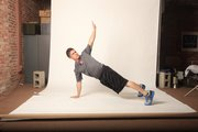 Matt Scanlon demonstrates the middle position for a T-push up. This is the easiest progression of the movement.