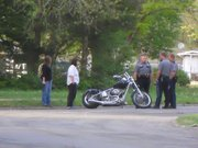 A Lawrence man was taken by Life Star helicopter to a Kansas City area hospital Saturday afternoon after losing control of his motorcycle. His injuries were not believed to be life threatening.