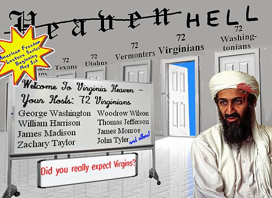 Osama Bin Laden finds his 72 Virginians