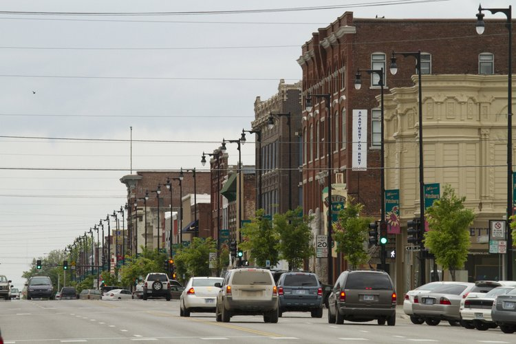The Community Health Center of Southeast Kansas has helped the economy in Pittsburg, a town located about 140 miles southeast of Lawrence. This is a picture of the downtown area.