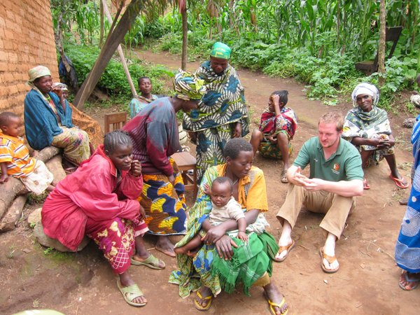 Geoff Knight, a Kansas University graduate, met with women in Mufindi, Tanzania, who make baskets to earn income. These women are either HIV positive or caring for children who are orphans because of HIV.