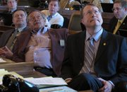 Kansas House Pensions Committee Chairman Mitch Holmes, far right, listens during a pensions legislation debate at the Statehouse Tuesday, May 10, 2011. Behind him is Rep. Leslie Osterman, a Wichita Republican. A bill attacking the long-term funding problems of Kansas' public pension system won final approval Tuesday from the Legislature.