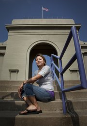 Haskell Indian Nations University student Colene Wagnon will walk under the archway at Haskell Stadium for commencement, when she will receive her associate's degree in business. Wagnon, a mother of three, plans to continue at Haskell working toward her bachelor's degree.