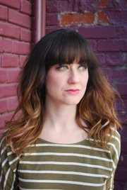 Ombre hair coloring by Brad Hestand, owner of the Greenroom Salon, 924 1/2 Mass., on Erin Barr.