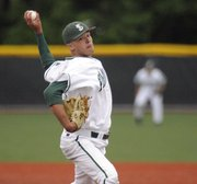 Free State pitcher Cody Kukuk delivers to a Leavenworth batter during the 2011 6A regional baseball championship game on Wednesday, May 18, 2011 at FSHS. The Firebirds lost, 3-5, in eight innings.