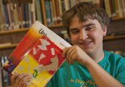 "West Junior High School student Gavin Spence&squot;s second book, ""Unbreakable II,"" was printed by KU Bookstore as part of a contest for Lawrence school district students."