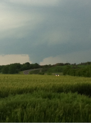 A possible funnel cloud can be seen in Shawnee County in this user submitted photo from Saturday, May 21, 2011.