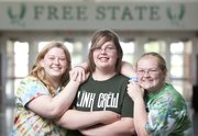 "Free State seniors Dominique Shaffer, Alysia Foust and Ashley Abbott developed a special bond through a class called Interpersonal Skills. The three agree that they began high school as ""loners"" but have been able to come out of their shells through community service and overcoming personal adversity."