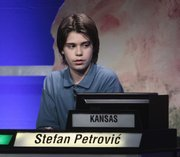 Stefan Petrovic, 13, finished third in the 2011 National Geographic Bee in Washington, D.C., Wednesday, May 25, 2011.