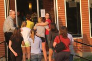 The town of McLouth bonded together on Thursday June 2, 2011 in the Methodist Church across from the high school to memorialize Justin Johnston, 16, a McLouth High School junior who died while on a trip to Costa Rica.