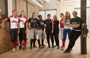 The All-Area softball first team, from left, is: Kristen Bell, Lawrence High; Lauren Massey, Lawrence High; Samantha O'Brien, Free State; A'Liyah Rogers, Free State; Kaley Patterson, McLouth; Jesse Troupe, McLouth; Kaitlyn Wolken, Tonganoxie; Elizabeth Strawn, Wellsville; Lauren Mabe, De Soto.  Not pictured: Mikela Scott, Ottawa; coach of the year Reenie Stogsdill, Lawrence High.