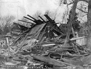 Damage in Lawrence following the April 12, 1911, tornado.